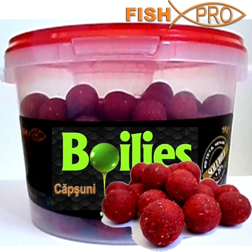 BOILIES SOLUBILE 1kg Strawberry  20 mm in galeata+ DIP GRATIS