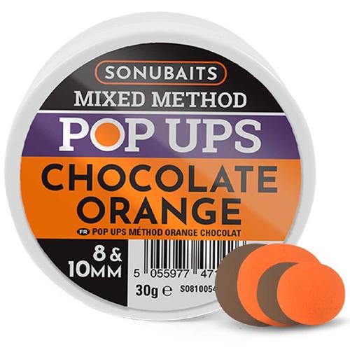 SONUBAITS MIXED METHOD POP UPS CHOCOLATE ORANGE 8&10MM