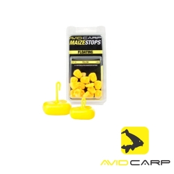AVID CARP MAIZE STOPS FLOATING - SHORT / YELLOW    15buc